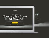 Lamborghini Website Concept - FREE PSD