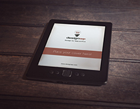 Free Photorealistic E-Book Reader Mockup