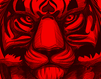Red Tiger Interior Graff