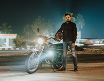 Saurab Sengupta and his RD350.