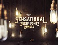 The Sensational Serif Fonts Bundle: 210 Unique Fonts