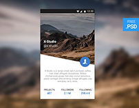 CreativesCastle UI #004 — User Profile - FREE PSD