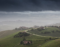 DURING AND AFTER THE STORM. THE LANGHE