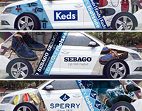 Habillage Auto Sperry, Keds, Sebago