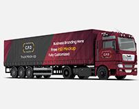 Trailer Truck Mockup Free PSD - 4 Mockups [PSD]