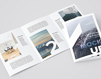 Vertical A4 Trifold Mock-Up / 3D Visualization