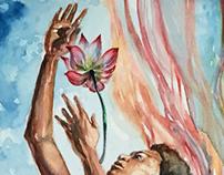 Yemanja Receives Lotus as Offering.