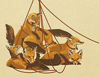 A Leash of Foxes