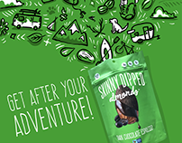 Hand Drawn INSTAGRAM CAMPAIGN for Skinny Dipped Almonds