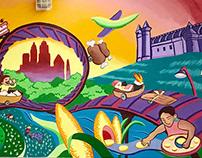Global Gastronomy - school mural in the Bronx, NYC