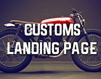 Customs Landing Page