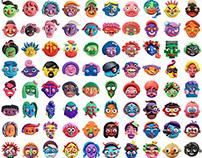 100 strange faces
