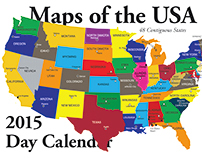 2015 Day Calendar — Maps of the USA