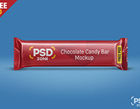 Free Chocolate Candy Bar Mockup PSD