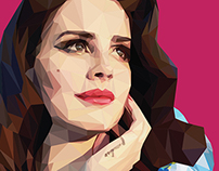 Lana del rey - Low poly