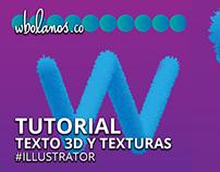 Texto 3D y Texturas