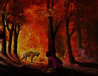 acrylic painting on canvas 40x70