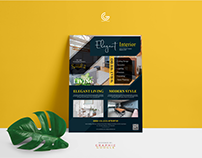 Free Modern Interior Flyer Design Template