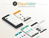Etiquettable app