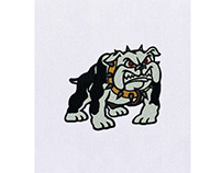 FIRM AND FUMING BULL DOG EMBROIDERY DESIGN