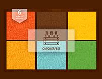 Oktoberfest Line Art Seamless Patterns