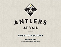 Antlers Vail logo re-design
