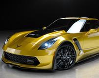 2015 Corvette Z06 Studio Lighting