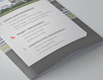 Tri-fold booklet for an architectural company