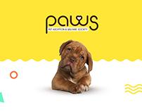 PAWS : Pet adoption & welfare society - Branding