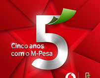 VODACOM MPESA - 5years logo