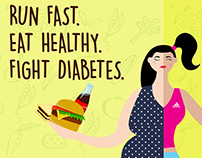 Fight diabetes banner proposal