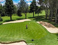Dronie playing golf