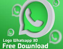 Whatsapp Logo 3D Rendering - Free Download