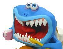 #Brushing teeth #shark