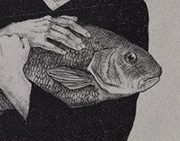Self portrait with fish