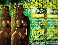 Afro Caribbean Fridays Flyer - Club A5 Template