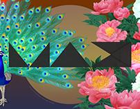 MAX CHALLENGE - 孔雀と芍薬