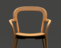 chamfered chair