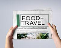 Newspaper FOOD+TRAVEL