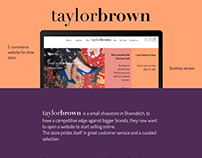 Taylor Brown - Concept Project for e-Commerce website