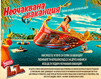"NESTLE LZ Choco bar BTL campaign ""Unexpected vacation"""