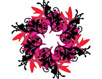Generative graphic Christmas wreath