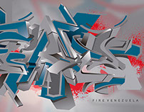 FIRE 3D Graffiti Digital