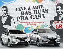 Anúncio Varejo - Concessionárias Honda
