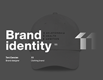 Brand identity for 111 wear - clothing brand