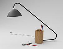 Modern Desktop Light w/ Swivel head and docking station