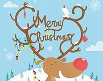 Raindeer christmas greetings