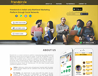 Website Layout For Friendcircle