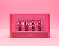 Loreal Paris Shine on French Pink Edition Press kit