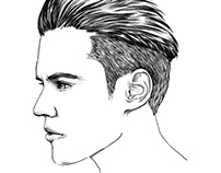 L'ORÉAL MEN EXPERT / Hairstyling Illustrations